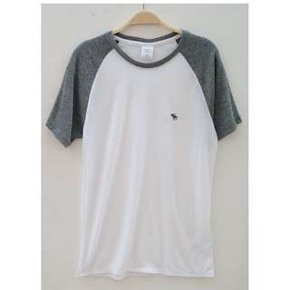 Abercrombie & Fitch Tshirt White Grey