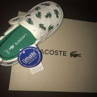 Lacoste Kid's Gazon 118 1 Cai wht/grn cnv sneaker