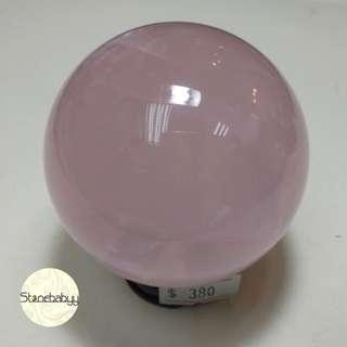 Rose Quartz 粉晶球58mm 風水擺設