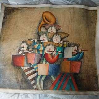 🚚 手繪油畫(68*58cm)