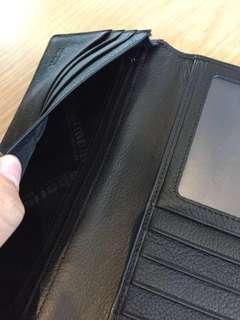 wallet Oberman long black genuine calf leather (used)