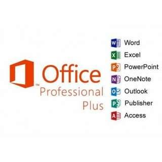 全新原裝正版 Microsoft Office 2016Professional Plus 專業增強版 OEM軟件 key 中英文, 一用戶