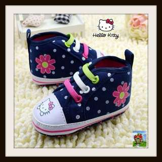 HELLO KITTY Navy Blue High Cut Baby Girl's Shoes -Soft Soles