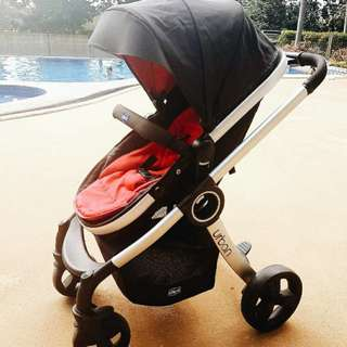 Chicco Urban Stroller (Black & Red) - Pre-loved / Barely Used