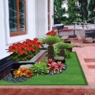 Grafik taman minimalis untuk halaman rumah