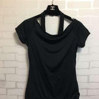 春裝登場~NIKE 黑色短袖吸濕排汗材質(顯少穿便宜出售)