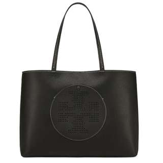 Authentic Tory Burch Logo Perforated Tote Shoulder Bag