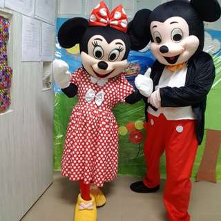 Mickey Minnie Mascot