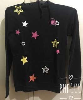 Black Hoodie with Stars