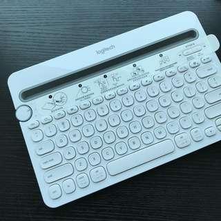 Logitech 藍牙鍵盤(可記錄三設備)