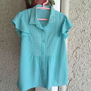 Lowry's Farm blouse with eyelet detail