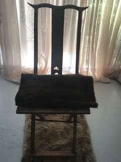 "Antique elmwood ""Yunnan""  hunting chair"