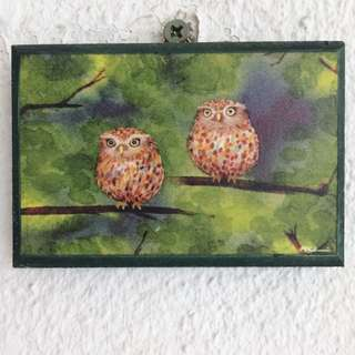 Polka-dotted Owlets (Hand-painted)