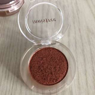 Innisfree eye shadow - glitter rose gold / dark brown