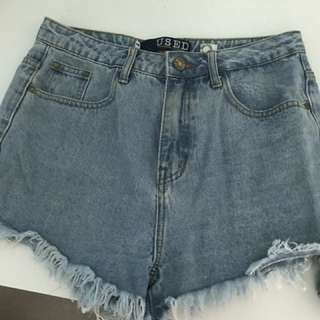 'USED' denim Shorts