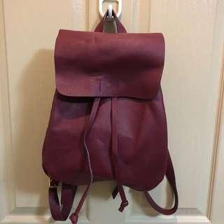 Parfois maroon Formentera backpack
