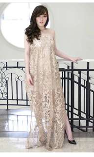 Brokat Dress Gold
