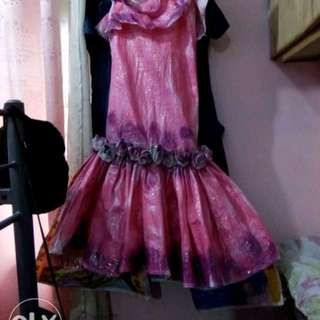 Gown made of recycled material