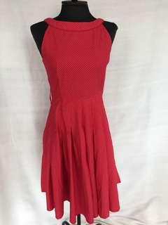 Tomato Red Polka Dress