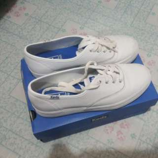 WHITE LEATHER KEDS SHOES (AUTHENTIC)