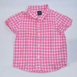 Authentic baby Gap Pink Plaid Unisex Boys Girls ~ Preloved