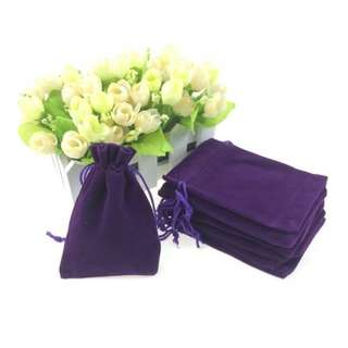 Velvet (7x9cm) Purple Pouch (Many Colours and Sizes Available)