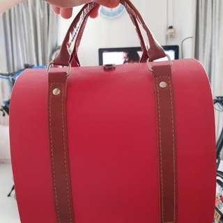 Red bag holder