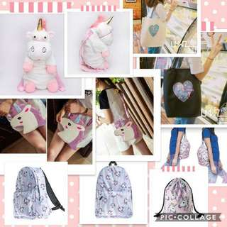 Unicorn Bags! Perfect Gift Items!