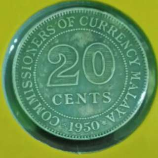 20 Cents Malaya 1950