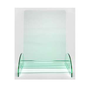 DL Green Tinted Brochure Holder - 1 Tier Table Top