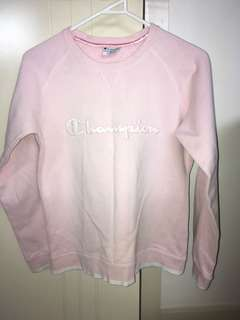 Vintage Champion Sweater baby pink