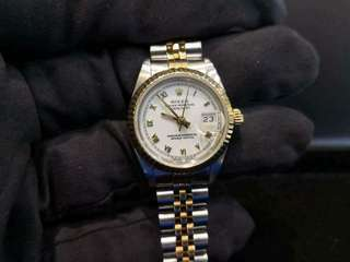 PREOWNED ROLEX Datejust, 69173 Yellow Rolesor, 26mm, Lady-size, N Series @ Year 1991 Ladies Watch