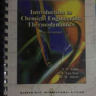 Introduction to Chemical Engineering Thermodynamics (7th edition)