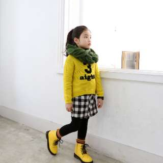 假二件格子裙褲 (#11799)
