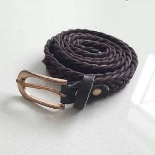 Thin Braided Belt