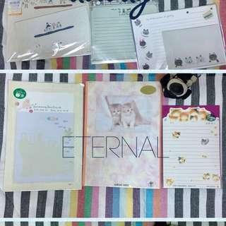 一些🌀有喵喵圖案的信封、信紙套組