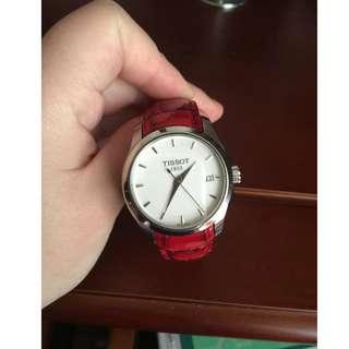 天梭女士手錶,石英表,全新,試戴過兩次