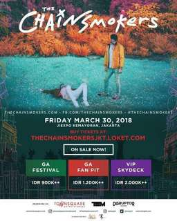 Tiket The chainsmokers