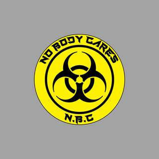Funny Stickers - NBC Biohazard