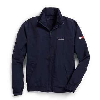 Men's waterproof windbreaker jacket in navy