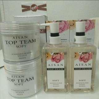 *4sets $100* Aisan Top Team Shampoo & Hair Mask