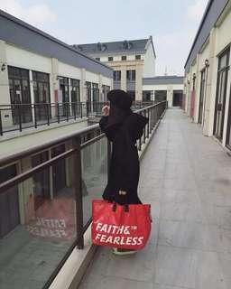 Faith&Fearless POP bag_Red