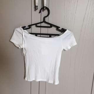 H&M 平口白色小可愛