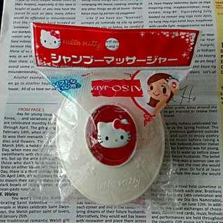 全新大創Hello Kitty頭皮按摩清潔刷