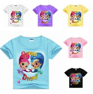 Little Shimmer n Shine Kid Tee - HGC651  Size: 100cm, 110cm, 120cm, 130cm, 140cm, 150cm, 160cm  Color: as attach photo