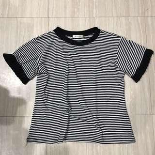 $50條紋黑白上衣