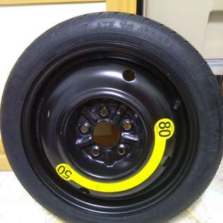 "Spare Rim Tyre 16"" made in Korea. Hyundai"