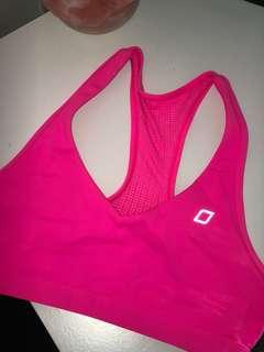 Lorna Jane Fluro pink sports bra