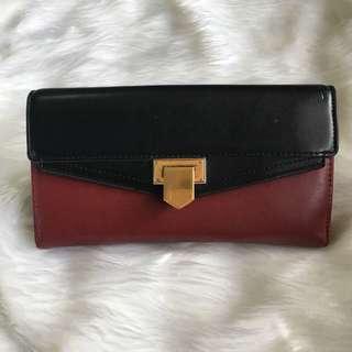 Charles & Keith Red & Black Wallet