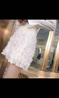 蕾絲半身裙